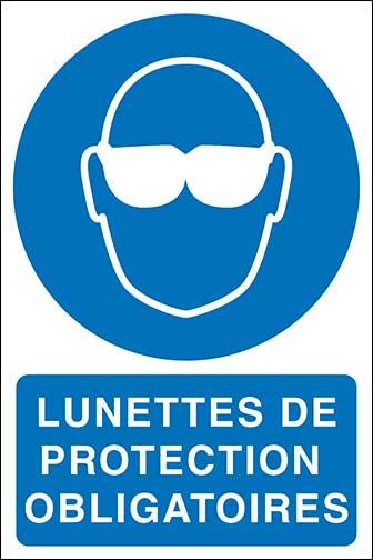 Affiches s curit e p i obligatoires quipement - Port des lunettes de securite obligatoire ...