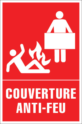 affiches s curit premiers soins trousse de d versement couverture anti feu affichage sst. Black Bedroom Furniture Sets. Home Design Ideas