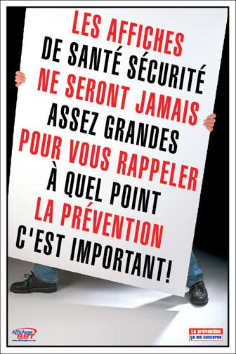 Souvent Affiches sécurité prévention au travail - Affichage SST – Santé  CR83