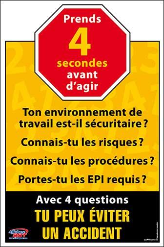 Affiches Sécurité Prévention Au Travail Affichage Sst