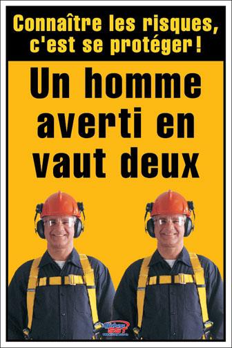 Populaire Affiches sécurité risques au travail - Affichage SST – Santé  ME05